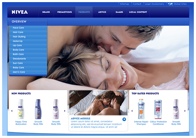 Nivea Product Section